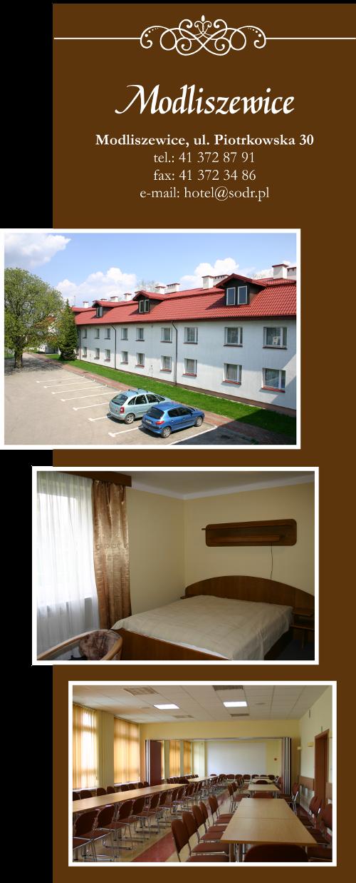 Hotel Świętokrzyskiego Ośrodka Doradztwa Rolniczego w Modliszewicach